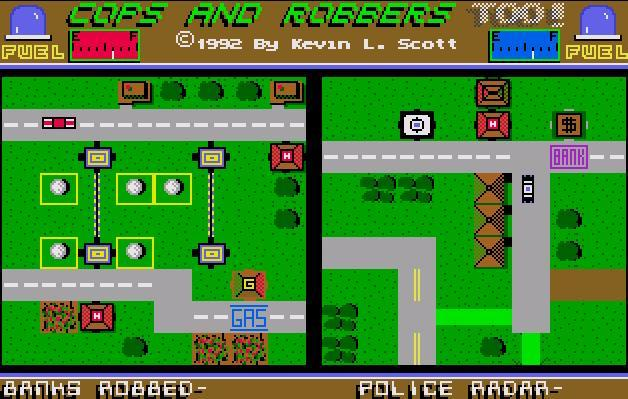 Cops and Robbers, Too! - Main Screen