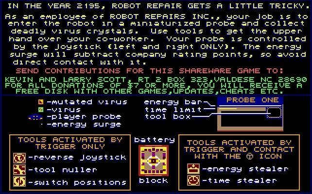 Robot Repairs Inc. - Instructions